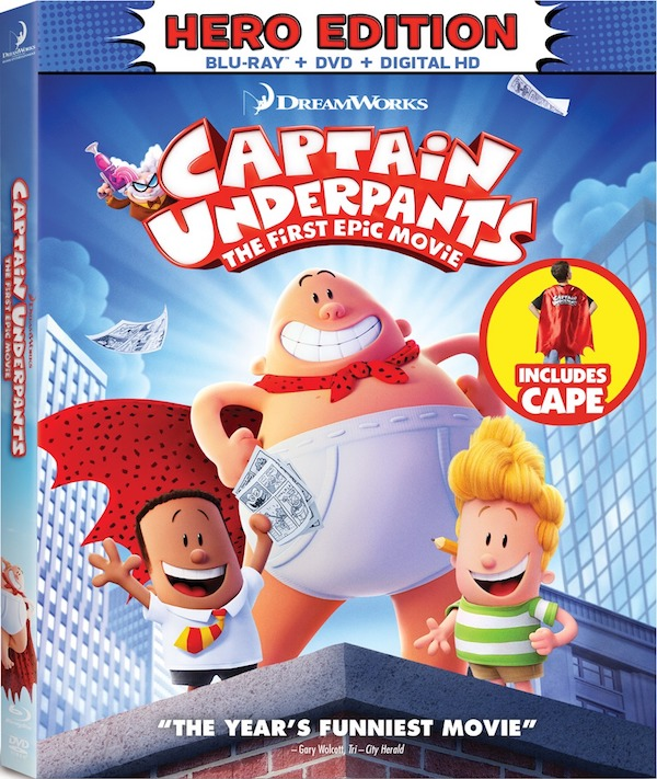 Captain Underpants: The FIrst Movie - Blu-ray Review