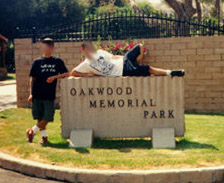 Oakwood Memorial Park where Bob Crane is buried