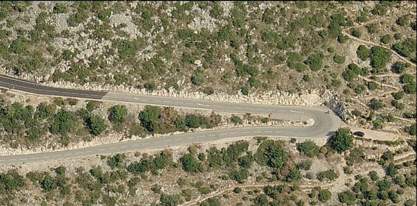 Devils Curse where grace kelly crashed - aerial view
