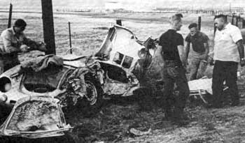James Dean's wrecked Porsche