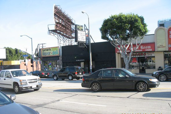 8800 Block of Sunset Blvd. The Viper Room is the dark storefront
