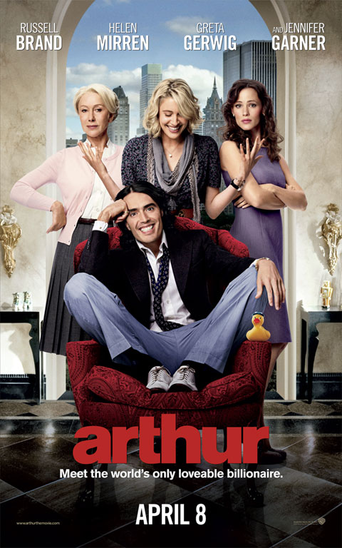 Arthur Movie Poster - Russell Brand