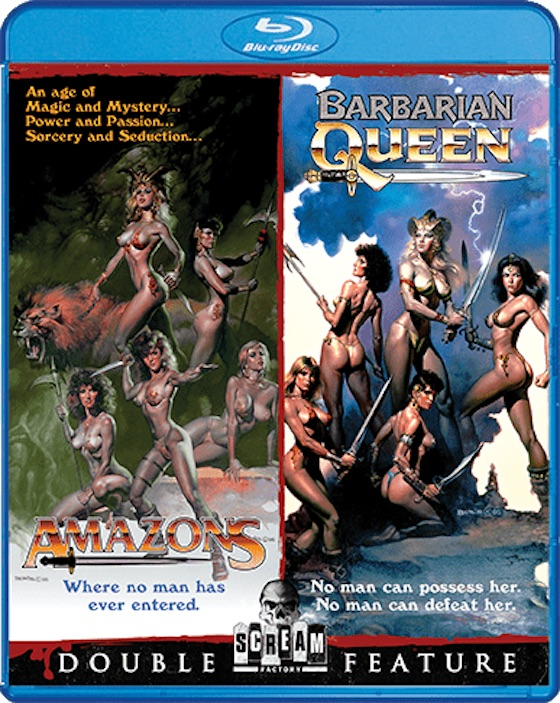 Amazons/Barbarian Queen blu-ray